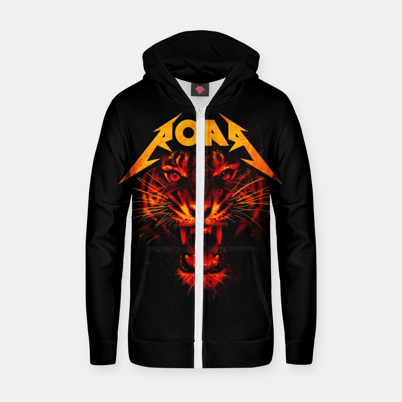 Image of Roar Zip up hoodie - Live Heroes
