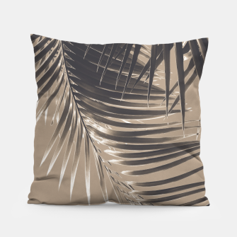 Thumbnail image of Palm Leaves Sepia Vibes #2 #tropical #decor #art Kissen, Live Heroes