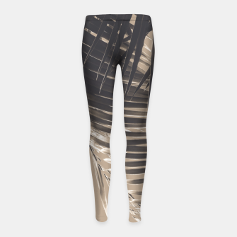 Thumbnail image of Palm Leaves Sepia Vibes #2 #tropical #decor #art Kinder-Leggins, Live Heroes