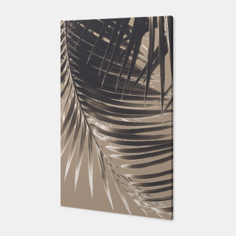 Thumbnail image of Palm Leaves Sepia Vibes #2 #tropical #decor #art Canvas, Live Heroes