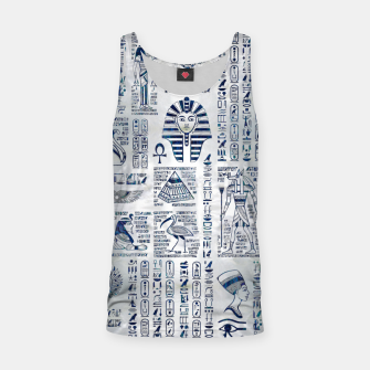 Thumbnail image of Egyptian hieroglyphs and deities abalone on pearl Tank Top, Live Heroes