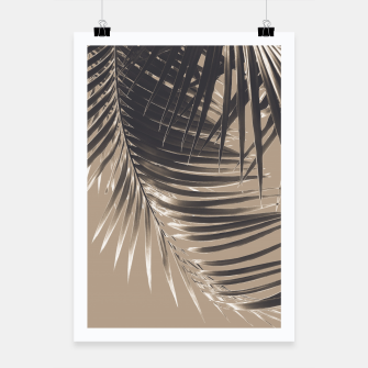 Thumbnail image of Palm Leaves Sepia Vibes #2 #tropical #decor #art Plakat, Live Heroes
