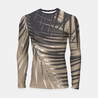 Thumbnail image of Palm Leaves Sepia Vibes #2 #tropical #decor #art Longsleeve rashguard, Live Heroes