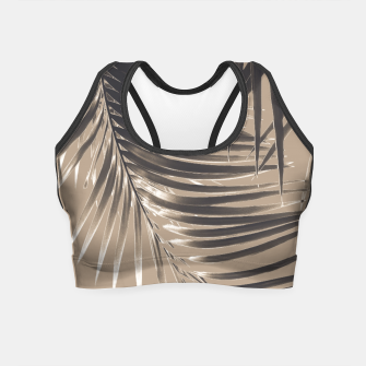 Thumbnail image of Palm Leaves Sepia Vibes #2 #tropical #decor #art Crop Top, Live Heroes
