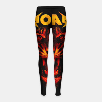 Miniature de image de Roar Girl's leggings, Live Heroes