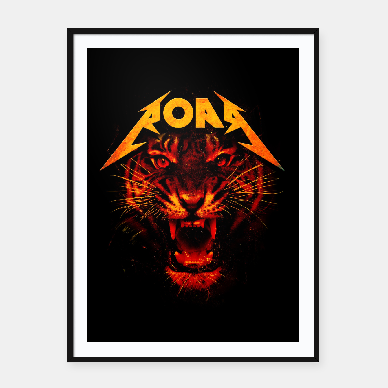 Image of Roar Framed poster - Live Heroes