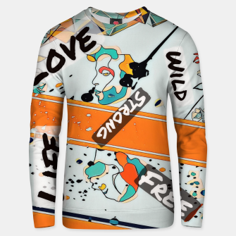Thumbnail image of One line Unisex sweater, Live Heroes