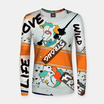 Thumbnail image of One line Women sweater, Live Heroes