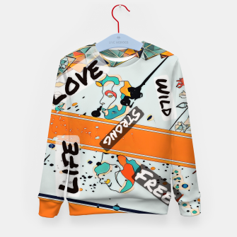 Thumbnail image of One line Kid's sweater, Live Heroes
