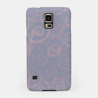 Thumbnail image of Pattern of pink swirls on blue Samsung Case, Live Heroes