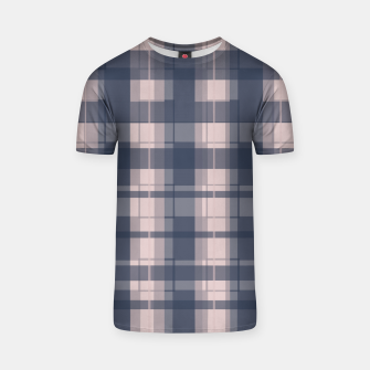 Thumbnail image of Dusty rose and Blue Modern Tartan T-shirt, Live Heroes