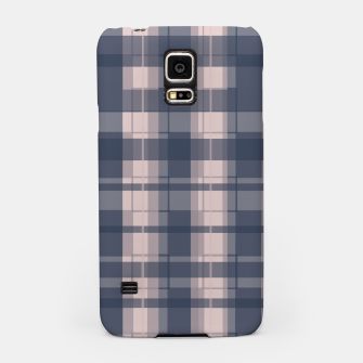 Thumbnail image of Dusty rose and Blue Modern Tartan Samsung Case, Live Heroes