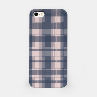Thumbnail image of Dusty rose and Blue Modern Tartan iPhone Case, Live Heroes