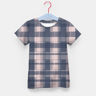 Thumbnail image of Dusty rose and Blue Modern Tartan Kid's t-shirt, Live Heroes