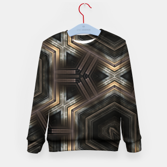Thumbnail image of Metallic Grain Form Kid's sweater, Live Heroes
