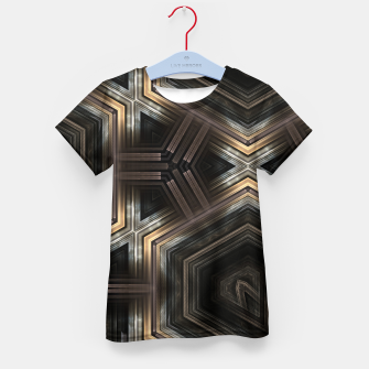 Thumbnail image of Metallic Grain Form Kid's t-shirt, Live Heroes