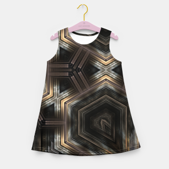 Thumbnail image of Metallic Grain Form Girl's summer dress, Live Heroes