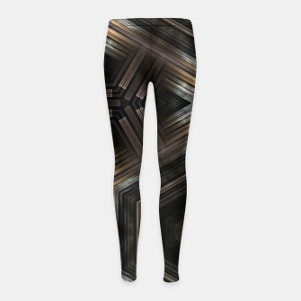 Thumbnail image of Metallic Grain Form Girl's leggings, Live Heroes