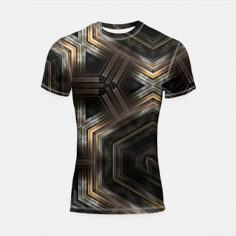 Thumbnail image of Metallic Grain Form Shortsleeve rashguard, Live Heroes