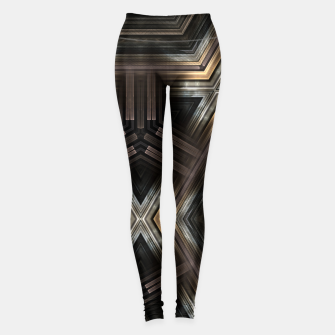 Miniaturka Metallic Grain Form Leggings, Live Heroes