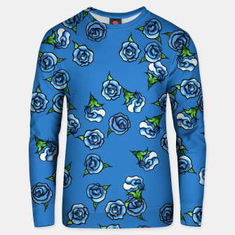 Thumbnail image of Blue Roses  Unisex sweater, Live Heroes