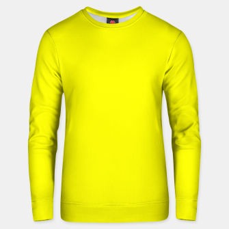 Miniatur Bright Fluorescent Yellow Neon Unisex sweater, Live Heroes