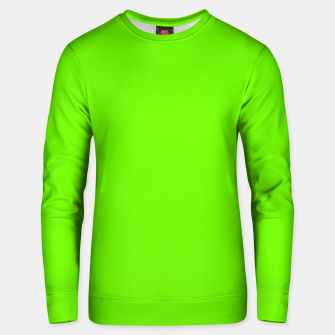 Miniatur Bright Fluorescent Green Neon Unisex sweater, Live Heroes
