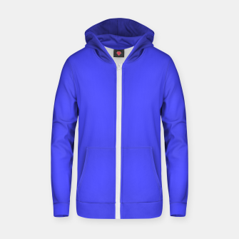 Miniatur Electric Fluorescent Blue Neon Zip up hoodie, Live Heroes