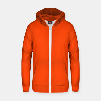 Miniatur Fluorescent Attack Orange Neon Zip up hoodie, Live Heroes