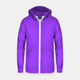 Miniatur Fluorescent Day glo Purple Neon Zip up hoodie, Live Heroes