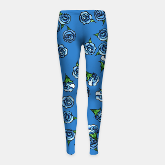 Thumbnail image of Blue Roses  Girl's leggings, Live Heroes