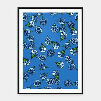 Thumbnail image of Blue Roses  Framed poster, Live Heroes