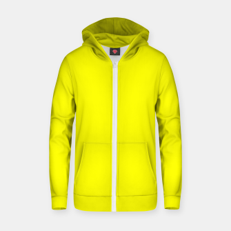 Miniatur Bright Fluorescent Yellow Neon Zip up hoodie, Live Heroes
