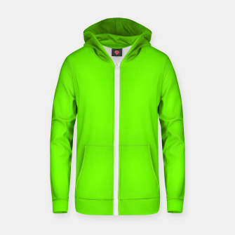 Miniatur Bright Fluorescent Green Neon Zip up hoodie, Live Heroes