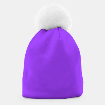 Miniatur Fluorescent Day glo Purple Neon Beanie, Live Heroes