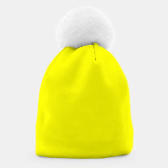 Miniatur Bright Fluorescent Yellow Neon Beanie, Live Heroes