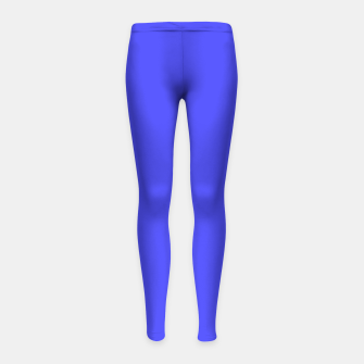 Thumbnail image of Electric Fluorescent Blue Neon Girl's leggings, Live Heroes