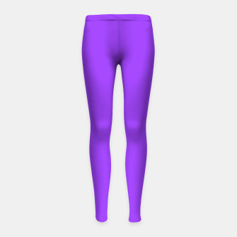 Thumbnail image of Fluorescent Day glo Purple Neon Girl's leggings, Live Heroes