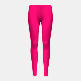 Thumbnail image of Bright Fluorescent Pink Neon Girl's leggings, Live Heroes