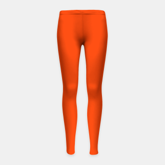 Thumbnail image of Fluorescent Attack Orange Neon Girl's leggings, Live Heroes