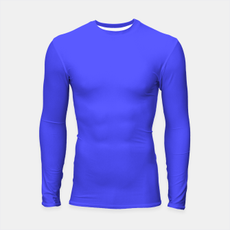Thumbnail image of Electric Fluorescent Blue Neon Longsleeve rashguard , Live Heroes