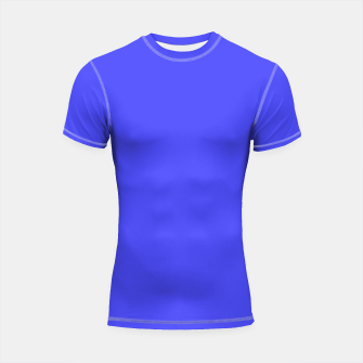 Thumbnail image of Electric Fluorescent Blue Neon Shortsleeve rashguard, Live Heroes