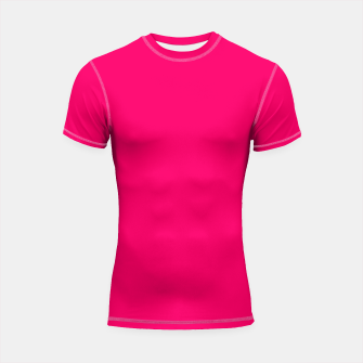 Thumbnail image of Bright Fluorescent Pink Neon Shortsleeve rashguard, Live Heroes