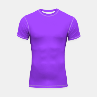 Thumbnail image of Fluorescent Day glo Purple Neon Shortsleeve rashguard, Live Heroes