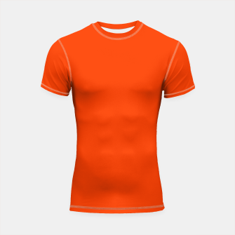 Thumbnail image of Fluorescent Attack Orange Neon Shortsleeve rashguard, Live Heroes
