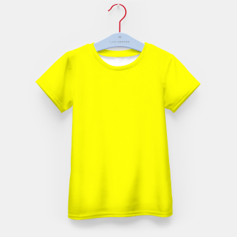 Thumbnail image of Bright Fluorescent Yellow Neon Kid's t-shirt, Live Heroes