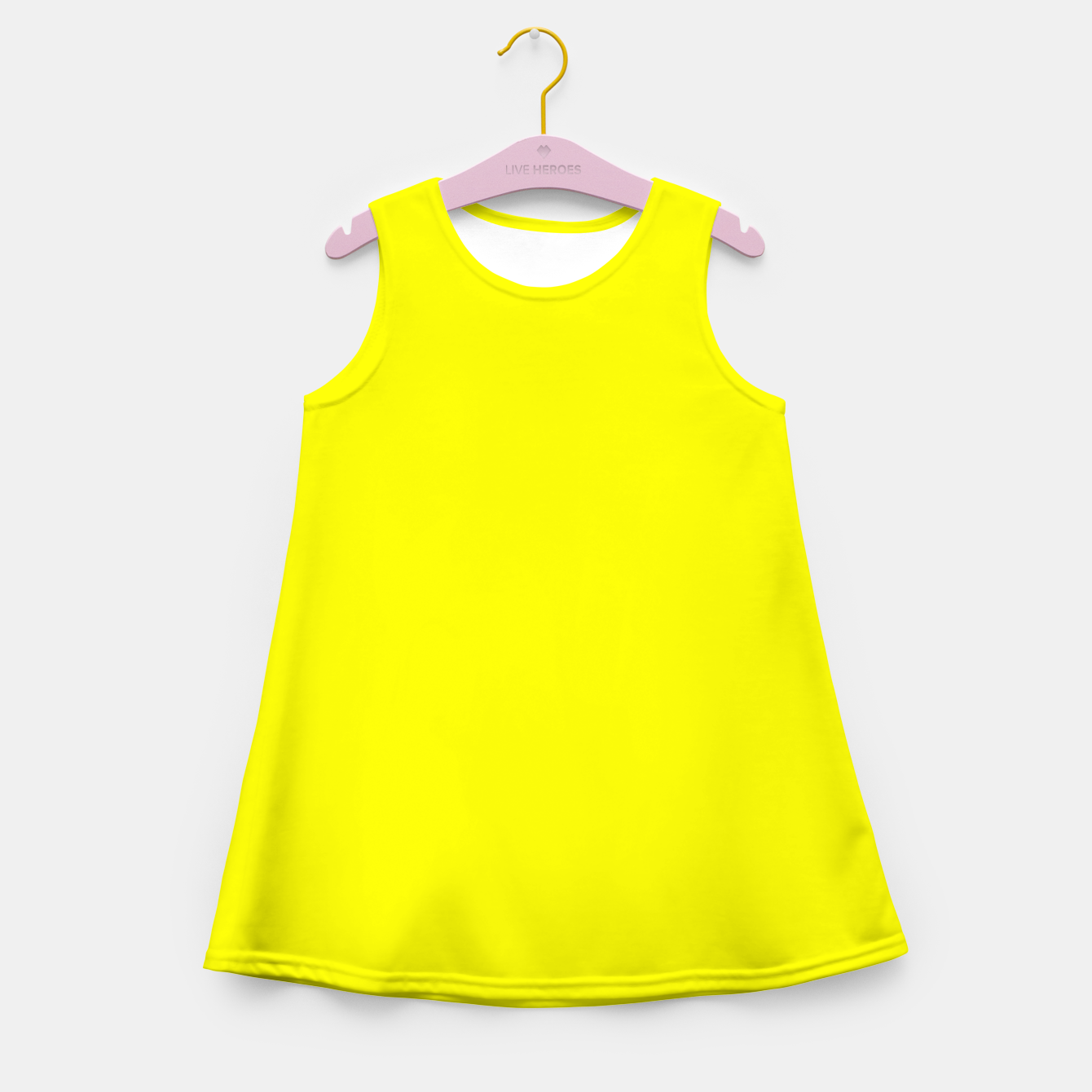 Image of Bright Fluorescent Yellow Neon Girl's summer dress - Live Heroes
