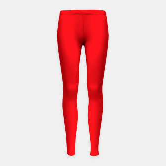 Thumbnail image of Fluorescent Fireball Red Neon Girl's leggings, Live Heroes