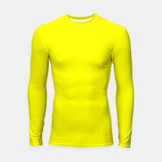 Thumbnail image of Bright Fluorescent Yellow Neon Longsleeve rashguard , Live Heroes