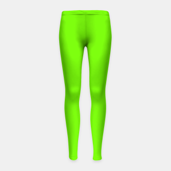 Thumbnail image of Bright Fluorescent Green Neon Girl's leggings, Live Heroes
